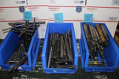 HUGE Lot of 143 End Mill Lathe Bits Mandrels Cutting Boring Drilling Tool Mill