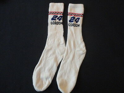 VINTAGE Men's Jeff Gordon 24 Racing  ATHLETIC /  TUBE  SOCKS SIZE 9-11