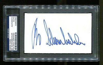 Bo Schembechler Signed Cut 3x5 Autographed Michigan Wolverines PSA/DNA 83950983