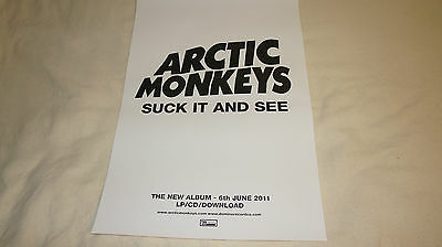 Arctic Monkeys - Suck It And See - UK promo poster