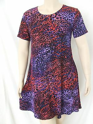 NEW Travel Knit Dress Long A-Line short sleeve poly//span DARK BLUE stretchy