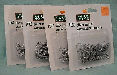 NEW 400 Christmas Ornament Hooks Tree Hangers Silver Metal Wire Small Size