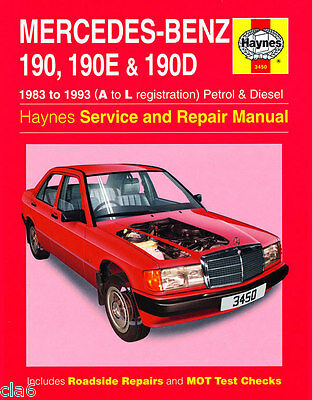 Mercedes 190 190E 190D Owners Workshop Manual 1983 to 1993 *NEW