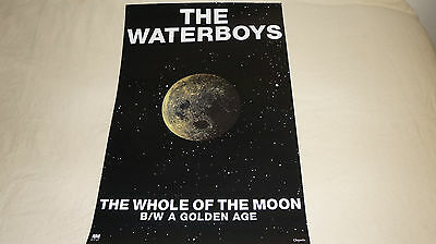 The Waterboys - The Whole of the Moon - UK promo poster