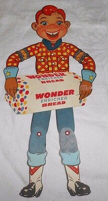 Vintage Howdy Doody Wonder Bread Paper Marionette Advertising Sign