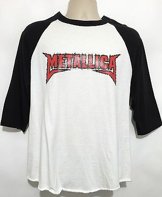 Metallica 2003 One 1 Concert Tour Baseball Shirt 3/4 Sleeve Metal Size Large