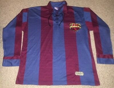 FC BARCELONA authentic 1920 retro shirt jersey LARGE