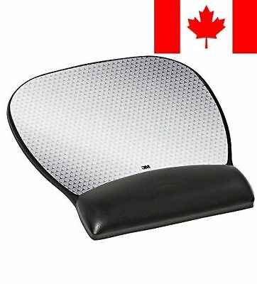 3M Leatherette Mouse Pad with Gel Wrist Rest and Antimicrobial Protection, La...
