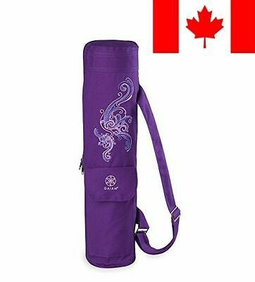 Gaiam Yoga Mat Bag, Deep Plum Surf