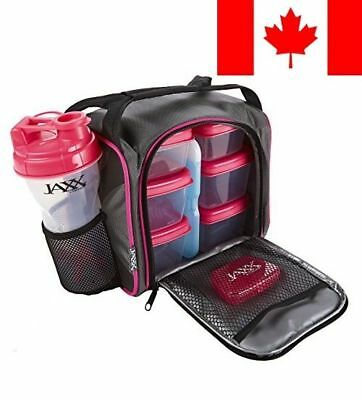 Fit & Fresh Jaxx FitPak with Portion Control Container Set, Reusable Ice Pack...