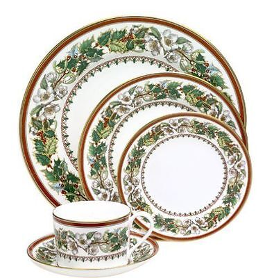 BRAND NEW - Spode Christmas Rose China England 5 Piece Place Plate Setting