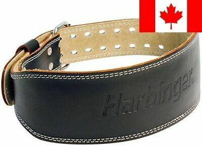 Harbinger 28420 4-Inch Padded Leather Lifting Belt, Medium