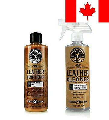 Chemical Guys - Leather Cleaner & Conditioner Complete Leather Care Kit (16 o...