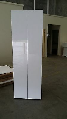 pantry 600mm wide kitchen pantry cabinet assembled 2 pak glossy white door