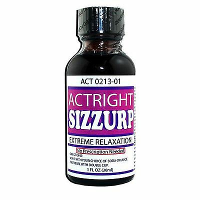 Actright Sizzurp Purple (1oz) Relaxation syrup legal lean