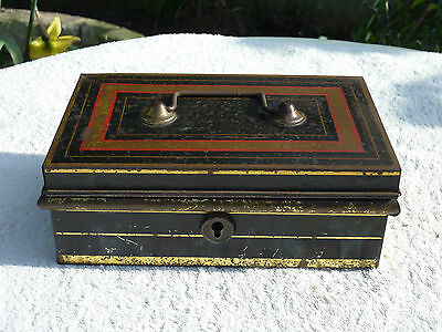 Antique Cash Money Box Metal Safe Inner Section Early 20th Century Shabby Chic