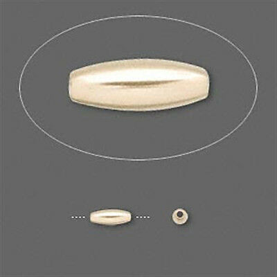 2.5mm x 6.5mm Gold-Filled Oval Rice Beads (10)