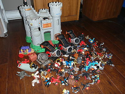 Huge Fisher Price Great Adventures Castle Piece Lot Dragon Cannon Knights 1994