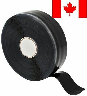 "X-Treme Tape TPE-X36ZLB Silicone Rubber Self Fusing Tape, 1"" X 36', Triangula..."