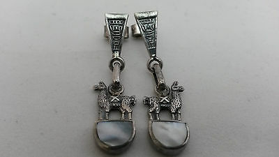 Antique Victorian Sterling Silver  Pearl  Earrings