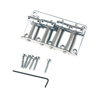 Musiclily 4 String Vintage Bass Bridge For Jazz Bass Top Load Upgrade Chrome New