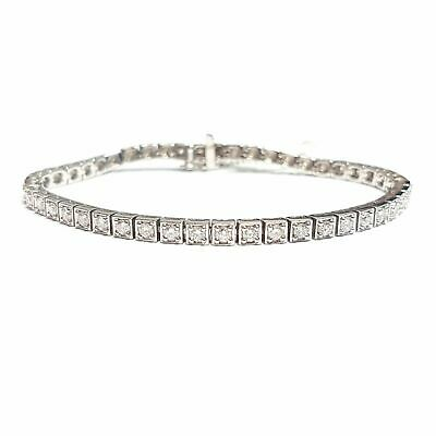 £3000 Special Offer.!! 2.00Ct Round Diamond Bracelet in Heavy White Gold - 10 gm