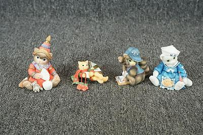 Vintage Lot Of 4 Calico Kittens Figurines