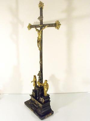 17Th Century Baroque Altar Gold Gilt Cross From Lisieux Cathedral France
