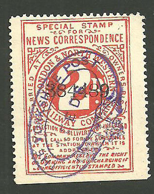 2D London & North Western Railway Special Stamp For News Yorkshire Post Leeds