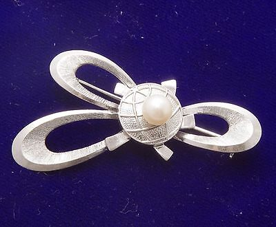 brooch MIKOMOTO (silver, with akoya pearl)