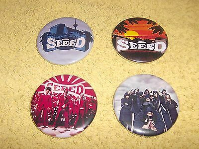 Pin Button Seeed 4 Stück Pins Musik Punk TOP TV Rock Seeed TOP SEED