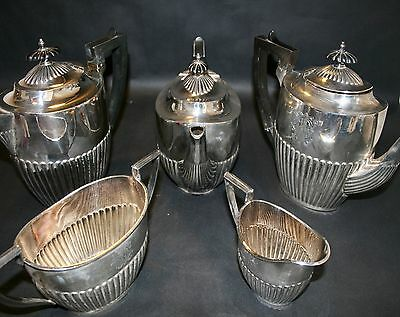 Walker And Hall Silver Plated Coffee And Tea Set Silver Plated Superb Set