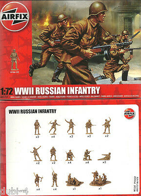 Airfix 01717 A01717 WWII Russian Infantry - WK2 russische Infantrie - - 1:72