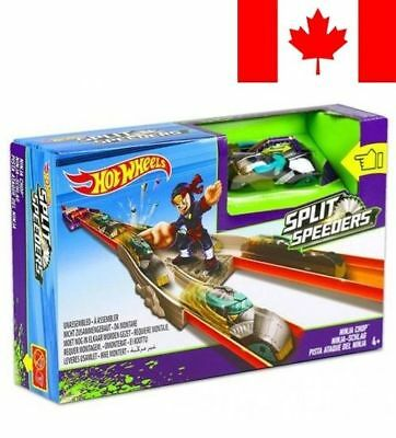 Mattel Hot Wheels Split Speeders Ninja Chop Action Track Set