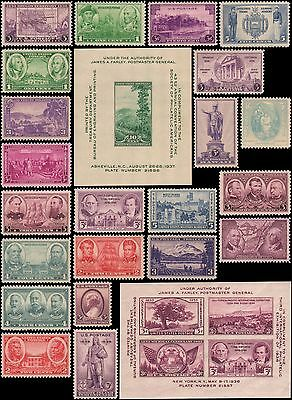 US #776-802 MNH 1936-1937 commemorative year set of 27 stamps