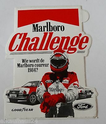 Aufkleber Marlboro Challenge 1984 Ford Escort XR3i Sticker Autocollant Decal