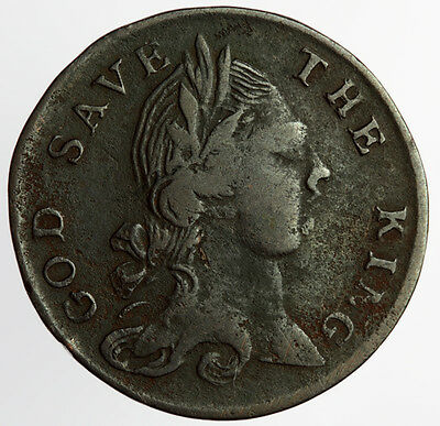 1796 Evasion Halfpenny ~ W314 God Save The King / Be As You Seem To Be