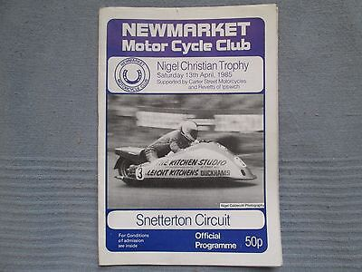 SNETTERTON NIGEL CHRISTIAN TROPHY SATURDAY  APRIL 13th 1985  OFFICIAL PROGRAMME