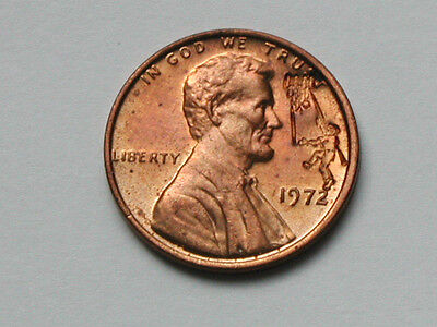 Bowling Counterstamped 1972 Lincoln One Cent Novelty Coin Countermarked Penny
