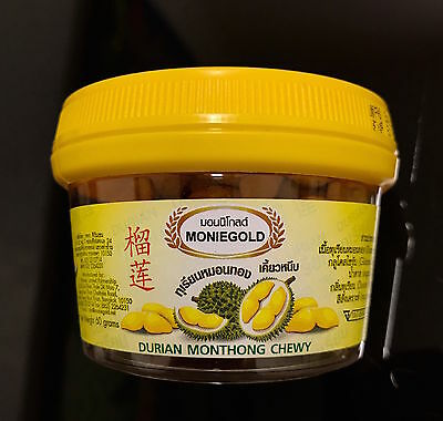 Durian monthong chewy candy-thai fruit sweet snack food-made in thailand