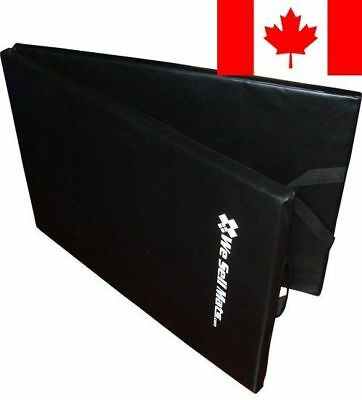 We Sell Mats Thick Folding Excercise Pilates Yoga Mat with Carry Handle