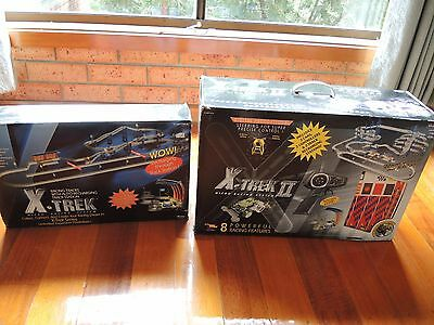 X-Trek and X-Trek II micro racing car system tracks Rare hard to find