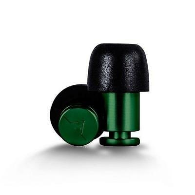 Isolate Green Aluminium Ear Plugs and 3 Pair Foam Tips from Flare
