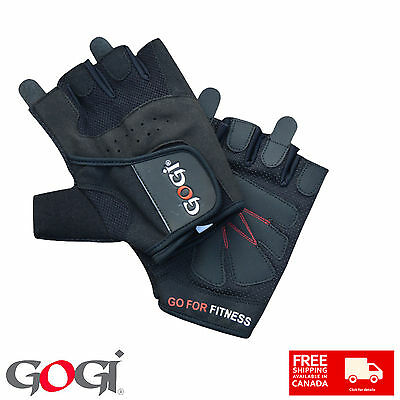 Gogi Power Weight Lifting Gloves Home Gym Exercise Training Workout Black Color