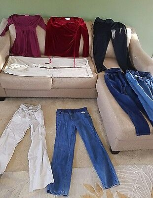 Womens Maternity medium clothes mixed lot of 8 (m100s)