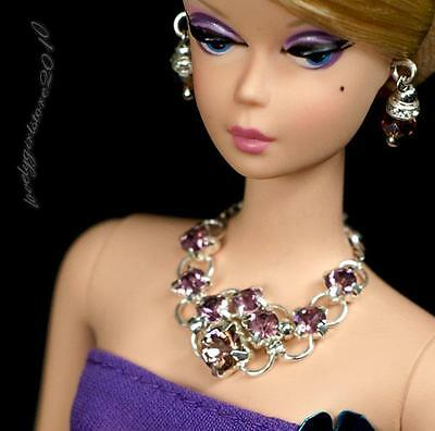 Handmade Barbie doll jewelry necklace earrings for Barbie doll 870A