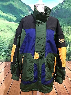 Vtg 80s DESCENTE TechnoGear Men's Ski Board Jacket 1/2 Zip Pullover Sz XL/XXL