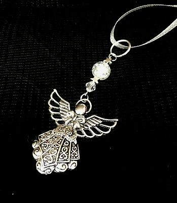 Guardian Angel Hanging Charm * Bereavement **christening *swarovski * Gift