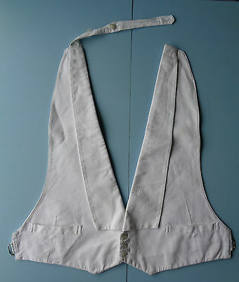 Vintage 20s 30s White Marcella Evening Backless Waistcoat Vest - S-M