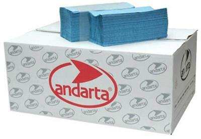 Andarta V-Fold Hand Towels Blue 230 x 250mm 1-ply Pack of 5000